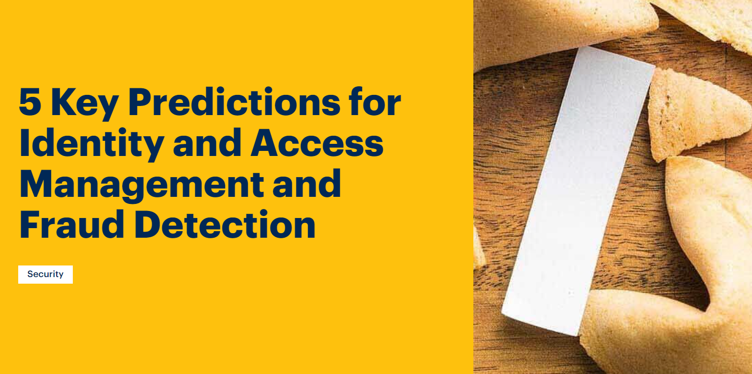 Gartner predictions for identity and access management